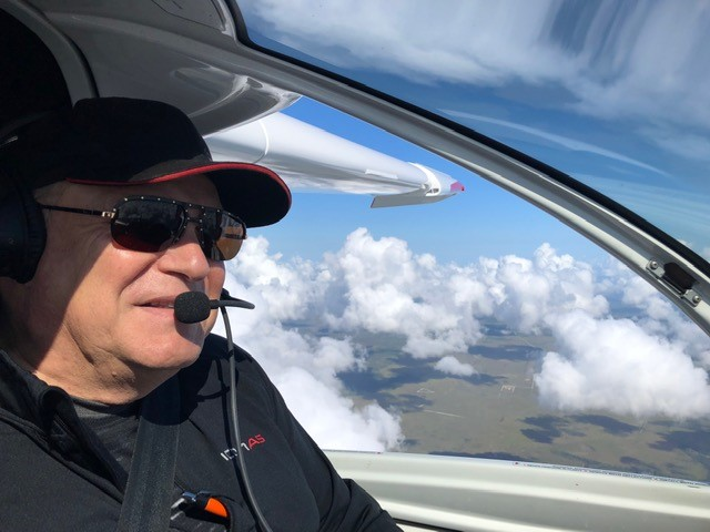 Gene Valentino and his Icon A5 flying high
