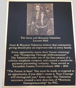 Gene-and-Maureen-Valentino-Pensacola-State-College-Dedication