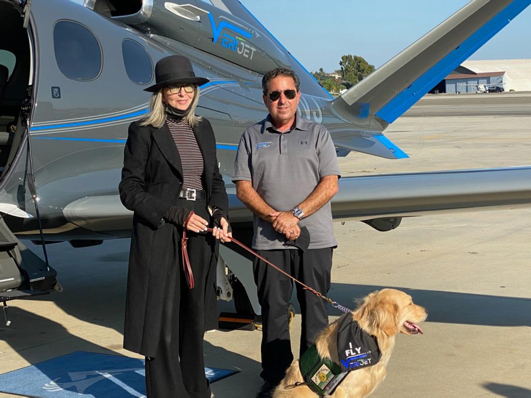 Actress-Diane-Keaton-with-VeriJet-founder-Richard-Kane
